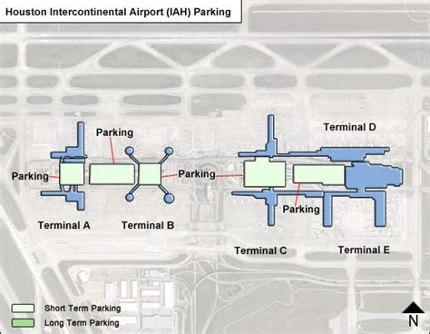 houston map airport houston intercontinental airport parking iah airport