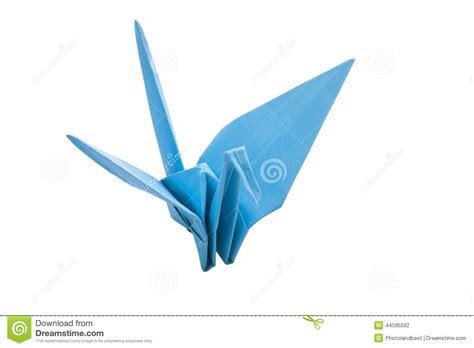 Origami Blue Bird - origami blue bird paper stock photo image 44595592
