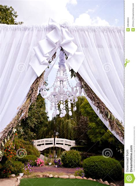 Chandelier Wedding Arch Wedding Arch With A Chandelier Stock Photo Image 43648504