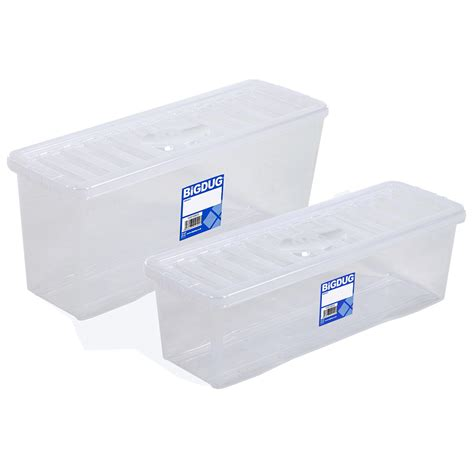 poly storage containers plastic cd dvd storage boxes box clear storage containers