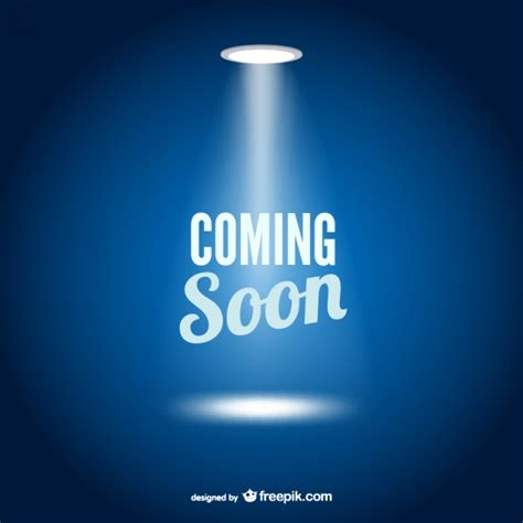 coming soon web page template vector free download