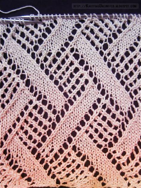 diamond pattern in knitting diamond lace knitting pattern 6 knitting pinterest