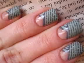 tutorial nail art giornale gazetowy french tutorial metoda gazetowa newspaper