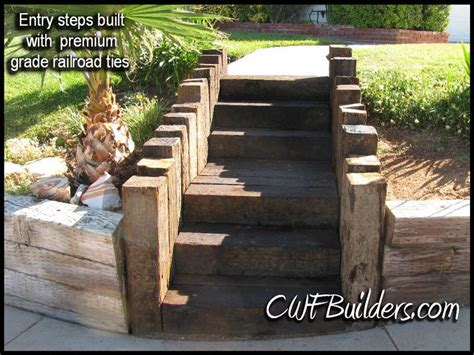 Railroad Tie Landscaping Ideas Railroad Tie Steps Landscaping Pinterest Growing Up Back To And Lakes