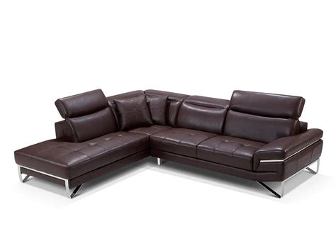 Modern Leather Sectional Sofas by Modern Brown Leather Sectional Sofa Ef194 Leather Sectionals