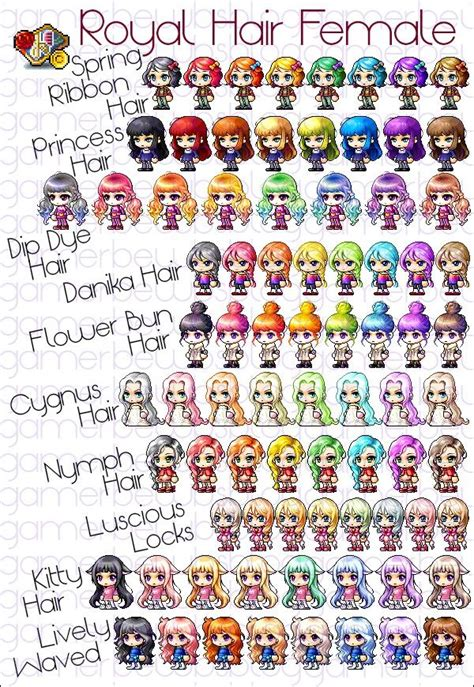 maplestory girl hairstyles 37 best maplestory hairstyles images on pinterest