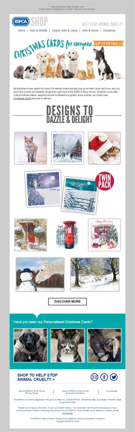 rspca new christmas cards time to stock up charity