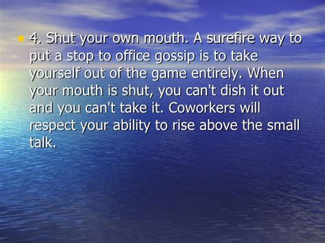 how to stop participating in office gossip how to stop office gossip