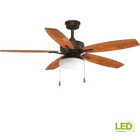 leoni ceiling fan leoni 48 in led indoor noble bronze ceiling fan