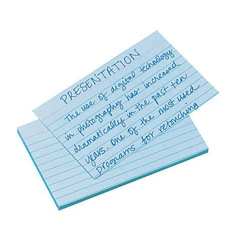 oxford printable index cards template oxford color index cards ruled 3 x 5 blue pack of 100 by