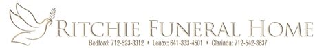 ritchie funeral home bedford lenox clarinda