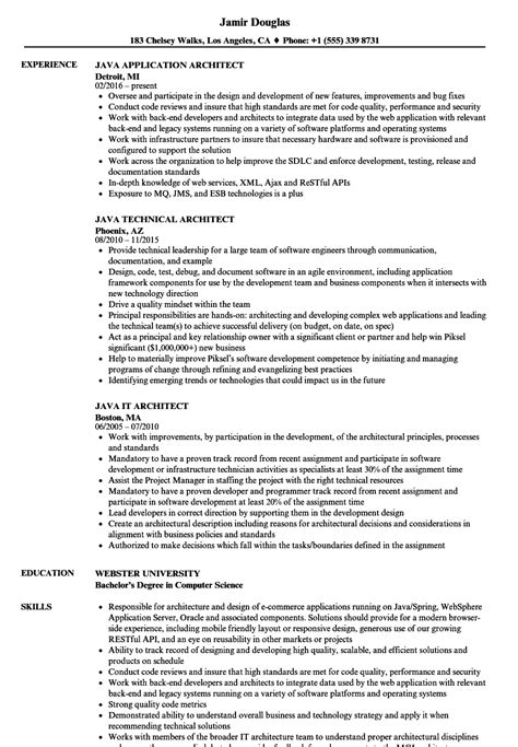 java architect resume format architect java resume sles velvet