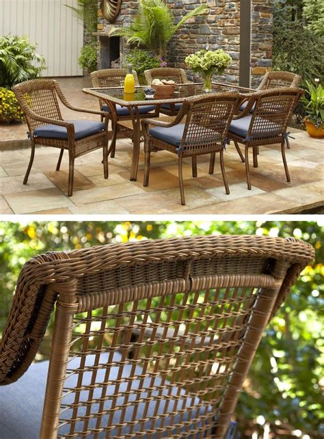hton bay wicker patio furniture hton bay patio table hton bay bloomfield 68 in