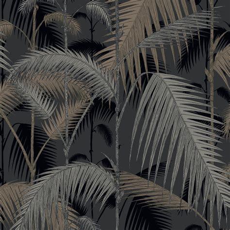 black and white jungle wallpaper cole son palm jungle silver black wallpaper 95 1004