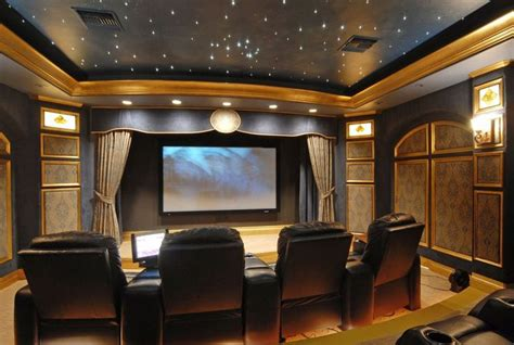 traditional home theater  crown molding sound