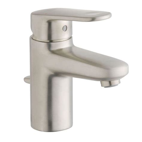 single hole bathroom faucet brushed nickel moen voss single hole 1 handle high arc bathroom faucet in
