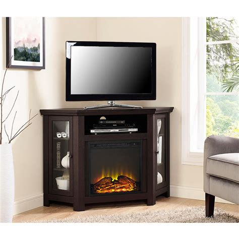 home depot fireplace tv stand walker edison furniture company espresso place
