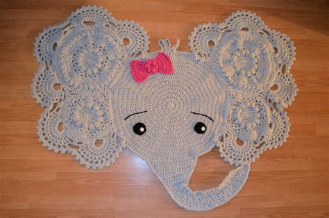 Elephant Crochet Rug For Sale by Crochet Pattern Elephant Rug Manet For
