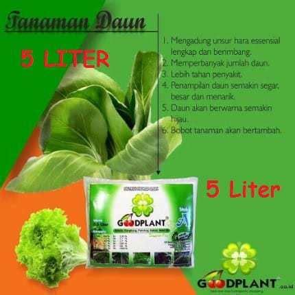 Jual Nutrisi Hidroponik Goodplant jual goodplant nutrisi ab mix buah 5 liter bibit