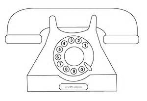 Office Phone And Fax Coloring Page  Small Large sketch template