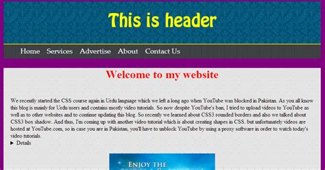 basic html site template creating complete css3 html5 website layout best