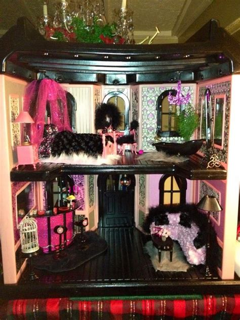 monster high dolls house tour barbie doll house redone for monster high dolls are you scared yet monster high