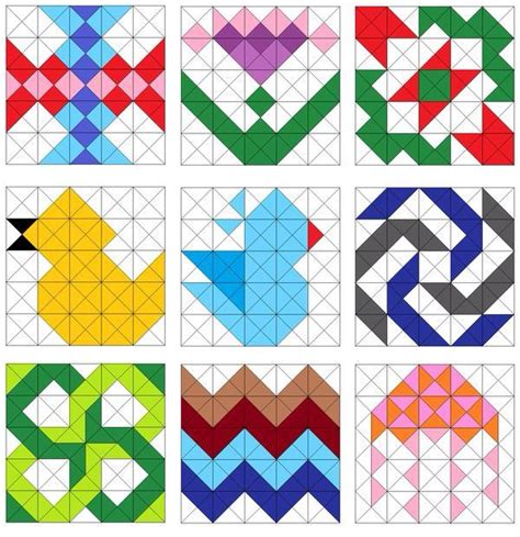 pattern block triangle grid 806 best images about q triangles hst diamonds on