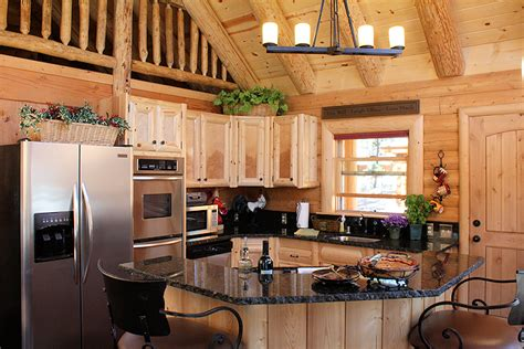 Kitchen Ideas Log Homes Log Home Kitchens 171 Real Log Style