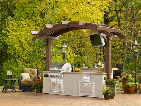 outdoor island kitchen optimizing an outdoor kitchen layout hgtv
