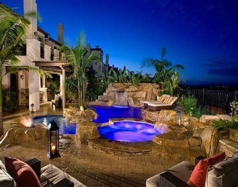 nicest backyards luxury backyard ideas with amazing swimming pool and comfortable outdoor furniture