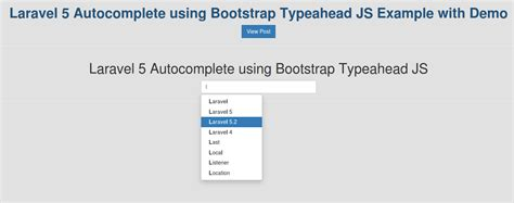 tutorial autocomplete bootstrap how to implement infinite ajax scroll pagination in laravel 5