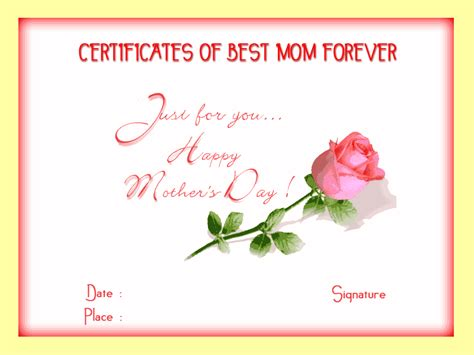 free printable gift certificates for mother s day mothersday certificates to print out