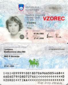 sle of id card template slovenian identity card wikiwand