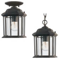 sea gull lighting 60029 12 kent black outdoor hanging
