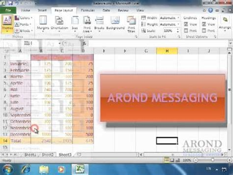 themes in excel 2011 using excel 2010 apply a workbook theme youtube