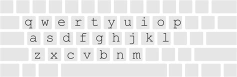 all business letters key keyboard layout clipart 32