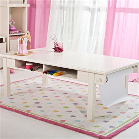 Kid Activity Table by Classic Playtime Antique White Activity Table With Paper Roll Gives Your Various Playful