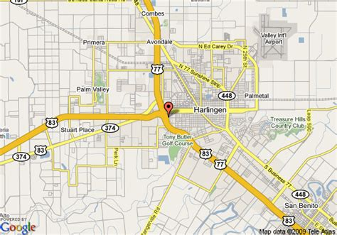 where is harlingen texas on the map map of courtyard by marriott harlingen harlingen