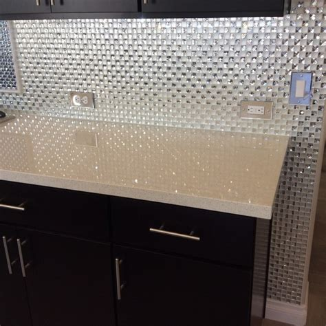 diamond bling kitchen backsplash