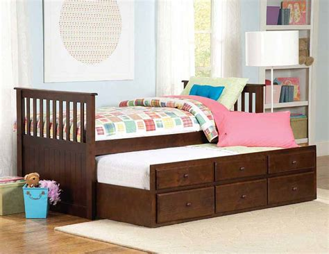 double trundle bed bedroom furniture zachary twin bed with trundle and storage kids beds
