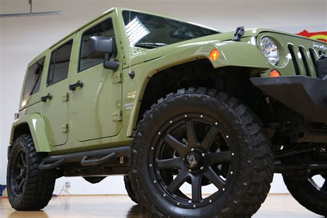 commando green jeep lifted 2013 jeep wrangler unlimited moab for sale lifted
