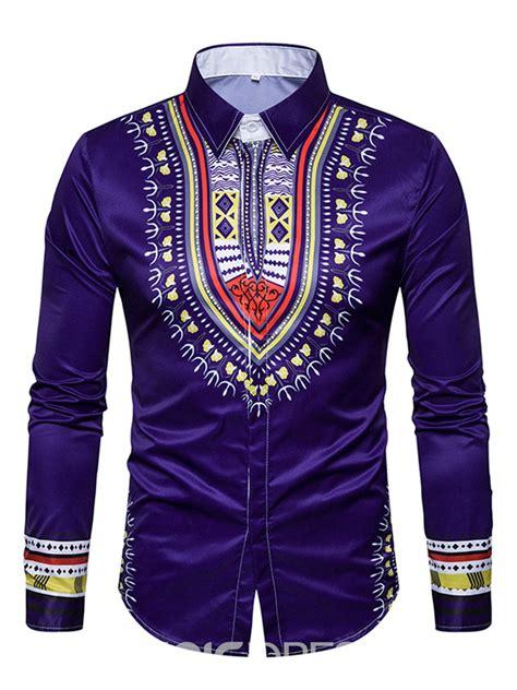 ericdress african fashion dashiki print slim cotton mens