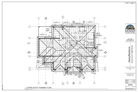 Typical Floor Framing Plan by Monsef Donogh Design Grouphoang Residence Sheet A205