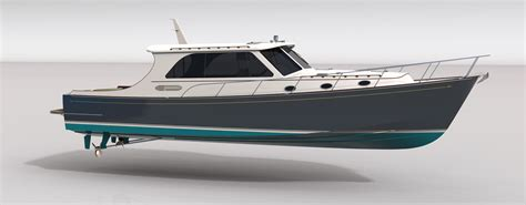 lobster boat keel downeast express yacht de50 bedard yacht design