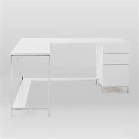 Lacquer Storage Desk Set West Elm White Lacquer Desk Accessories