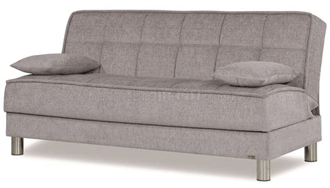 Smart Fit Sofa Bed In Silver Tone Fabric By Casamode Silver Sofa Bed