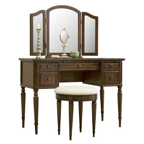 Powell Vanity by Powell Furniture Vanity Set In Warm Cherry 429 290