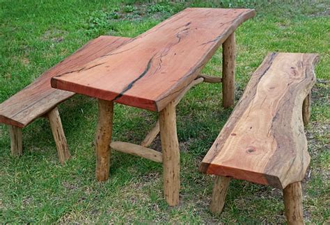 Raw Edge Dining Table The Junk Map Bendigo Attractive Bush Furniture And