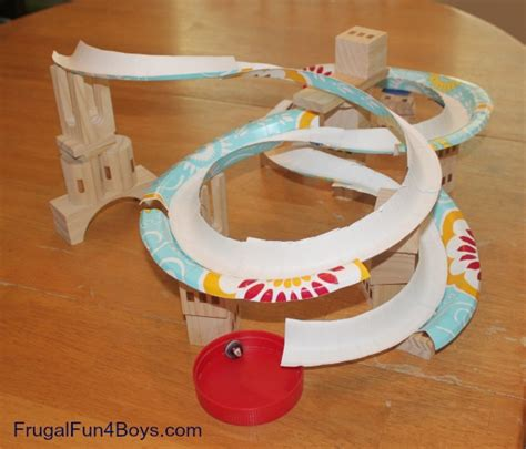 How To Make A Paper Roller Coaster Track - marble track frugal for boys all for the boys