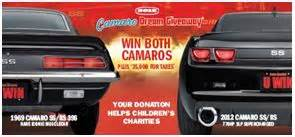 Camaro Dream Giveaway - two camaros plus 35 000 cash will be awarded to one lucky winner in the camaro dream